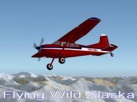 Flying Wild Alaska Cessna 185 in flight.