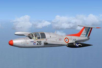 French Air Force MS760 Paris in flight.