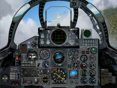 Virtual cockpit of Greece Air Force F-4F Phantom.