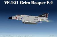 Grim Reapers VF-101 F-4 Phantom in flight.