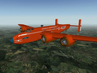 Handley Page 70 Halton for X-Plane version 9.
