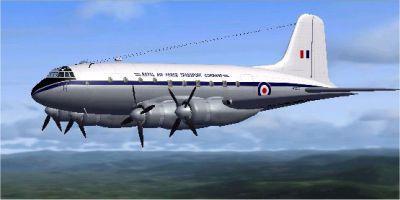 Handley Page HP67 Hastings in flight.