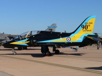 Photograph of the '90 Years Anniversary' Hawk T1.