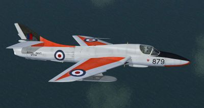 Hawker Hunter T8C, WT799 FRADU in flight.