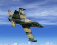 "HuAF L-39 Albatros ""125"" in flight."