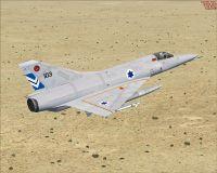 Israeli Air Force Mirage III in flight.