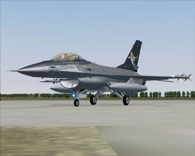 """Italian Air Force F-16 """"Con la Diana sul Petto""""."""