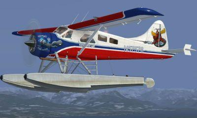 Kenmore Air DeHavilland DHC2 Beaver in flight.