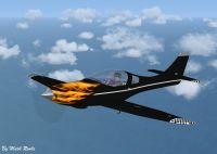 Lancair IV in flight.