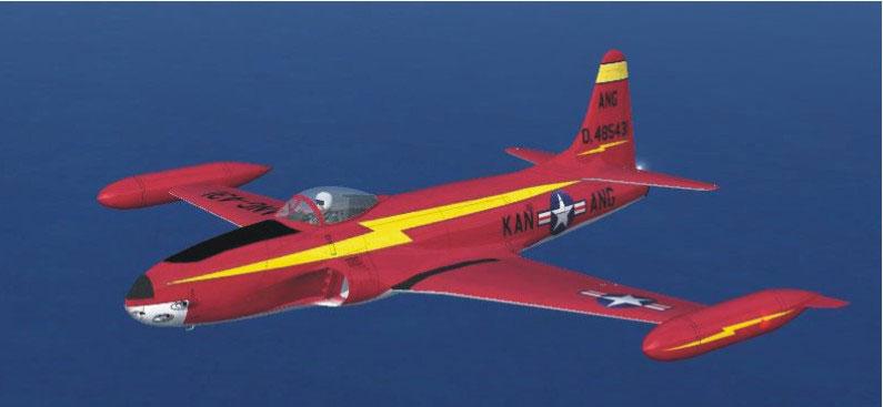 Lockheed F Shooting Star Update Fsx on Lockheed P 80