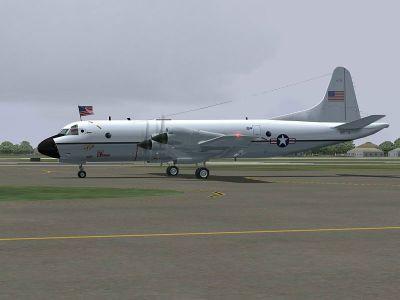 Lockheed VP-3A Catbird in flight.