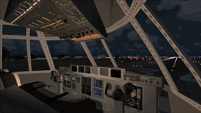 Virtual cockpit of Lockheed Martin C-130J-30.