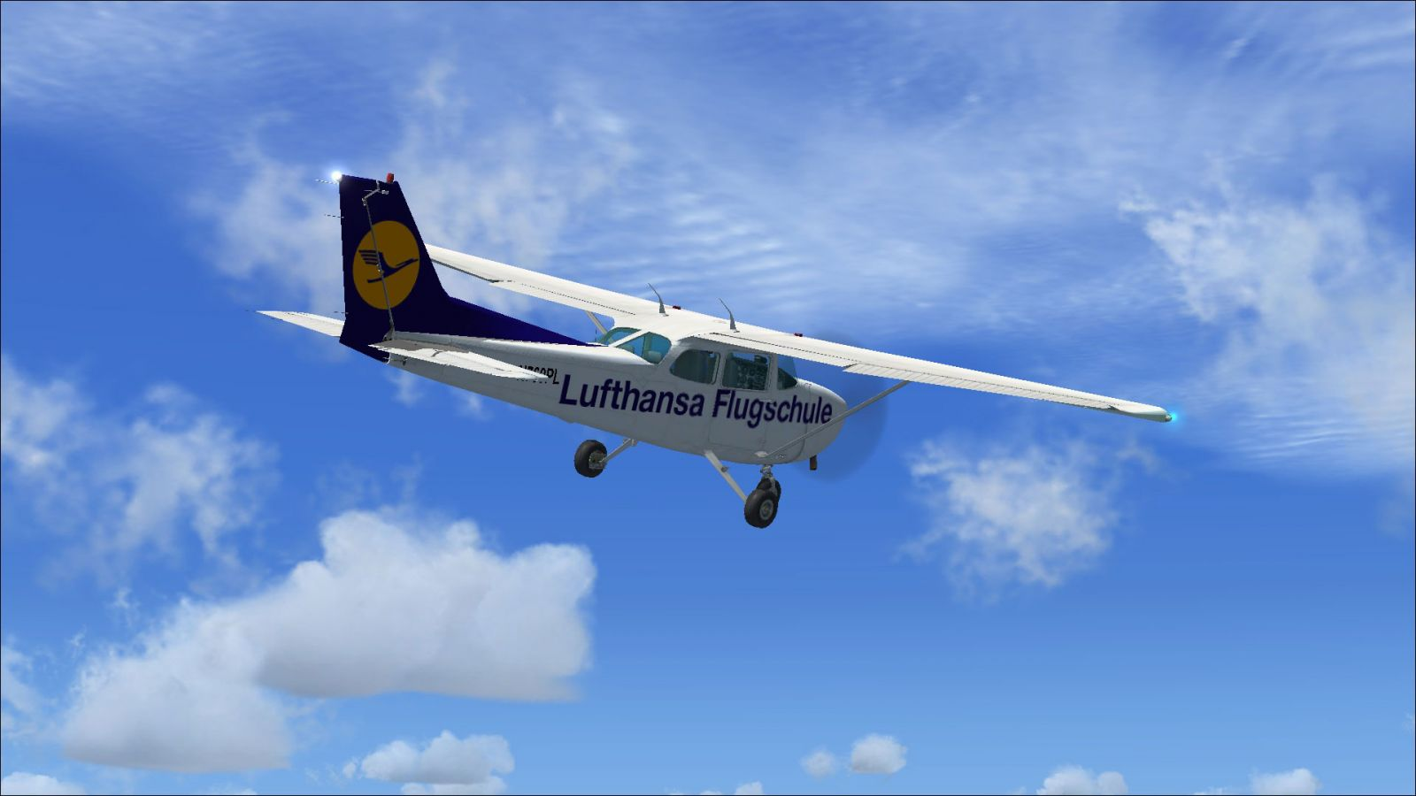 lufthansa flightschool cessna 172 for fsx. Black Bedroom Furniture Sets. Home Design Ideas