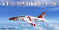 Marines VT-9 T45 C Tiger in flight.