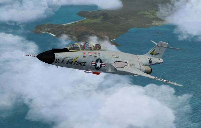 McDonnell F-101B in flight.