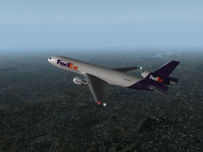 Fedex MD-10 in X-Plane 9.