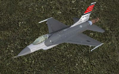 National Guard F-16C Fighting Falcon in flight.