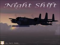 Night Shift OV1 Mohawk in flight.