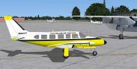 Yellow Air Taxi Piper PA-31 Navajo.