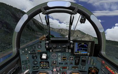 Virtual cockpit of Polish Sukhoi Su-27.