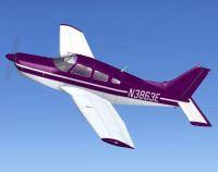 Purple Piper PA28R201 Arrow in flight.