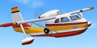 Republic RC-3 Seabee Amphibian in flight.