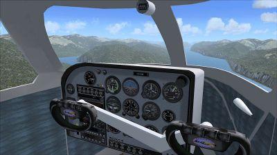 Cockpit view of Republic RC-3 Seabee Amphibian.