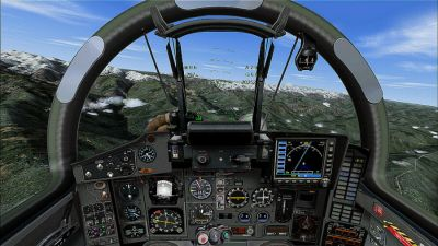 Virtual cockpit of Russian Air Force Mikoyan MiG-29.