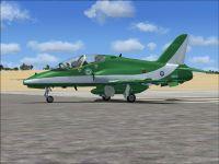 Saudi Hawks BAE Hawk T. MK. 65 on runway.