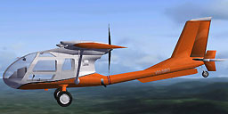 Orange Seabird Seeker SB7L 360A in flight.