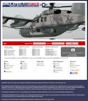 Screenshot of the Simulated United States Air Force website, September 2011.