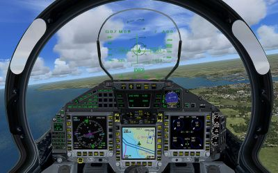 Virtual cockpit of Spanish Air Force Eurofighter.