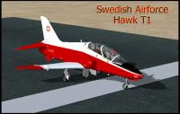 Swiss Air Force Hawk T1 on runway.