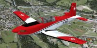 Swiss Air Force Pilatus PC-7 in flight.