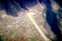 Aerial view of 'The Most Dangerous Airports: Lukla V2'.