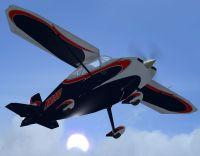 Wittman Tailwind N1027C in flight.