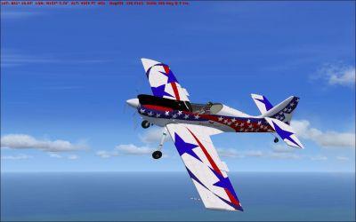 Zlin-50LS C-GWAG in flight.