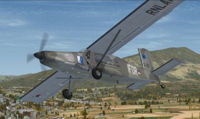KLU IFOR Pilatus PC-6C in flight.