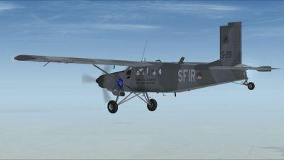 KLU SFIR Pilatus PC-6C in flight.