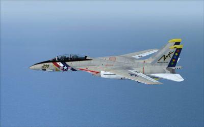 US Navy Grumman F-14A Tomcat VF-2 in flight.