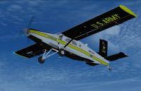 US Army Golden Knights Pilatus PC-6C in flight.