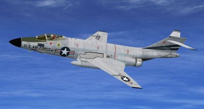 USAF McDonnell F-101 in flight.