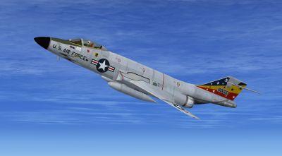 USAF McDonnell F-101C in flight.