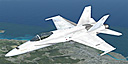 USMC VMFA 251FSX F/A-18 Hornet in flight.