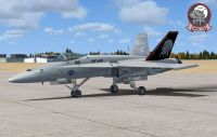 """USMV VMFA-122 """"CAG"""" F-18."""