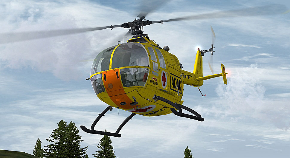 ADAC Luftrettung Bo 105 for FSX