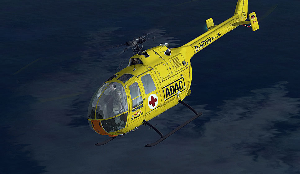 adac luftrettung bo 105 for fsx B0 105 Helicopter Bolkow 105 Helicopter