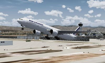 Air France Boeing 777 add-on for Microsoft Flight Simulator 2004.