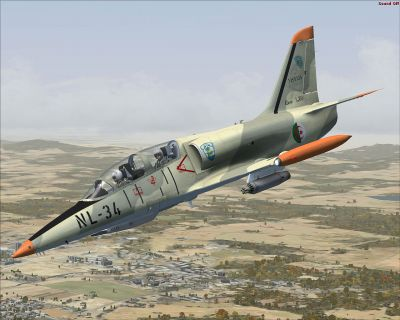 Algerian Aero L-39 Albatros in flight.