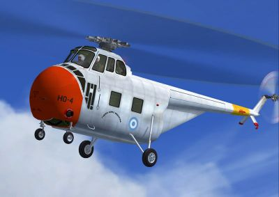 Argentinian Air Force S-55 in flight.